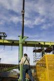 Travailleur dans l'industrie sidérurgique 2 photographie stock libre de droits