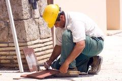 Travailleur de bâtiment Photo stock