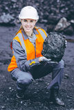 Travailleur de charbonnage Photographie stock