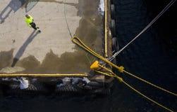 Travailleur de dock Images libres de droits
