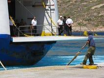 Travailleur de dock dans l'action Image libre de droits