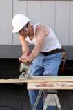 Travailleur de la construction photo stock