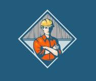 Travailleur de la construction de constructeur Images stock