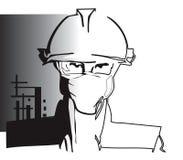 Travailleur de la construction de SÉRIE du TRAVAIL Photos libres de droits