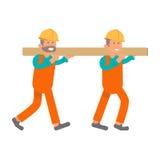Travailleur de la construction, deux travailleurs illustration de vecteur