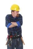 Travailleur de la construction fâché Photo stock