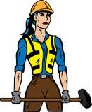 Travailleur de la construction féminin illustration stock