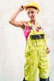 Travailleur de la construction féminin Image libre de droits