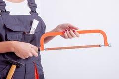Travailleur de la construction féminin Image stock