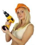 Travailleur de la construction féminin Photo libre de droits