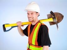 Travailleur de la construction heureux Photos libres de droits