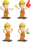 Travailleur de la construction industriel Customizable Mascot Photos libres de droits