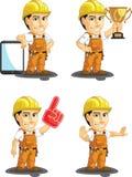 Travailleur de la construction industriel Customizable Mascot Images libres de droits