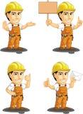 Travailleur de la construction industriel Customizable Mascot Image libre de droits