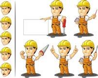 Travailleur de la construction industriel Mascot 3 Images stock
