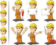 Travailleur de la construction industriel Mascot Photos libres de droits