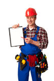 Travailleur de la construction mâle Photographie stock libre de droits