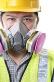 Travailleur de la construction masqué photo libre de droits