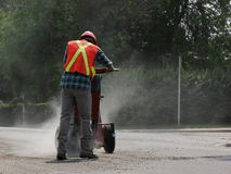 Travailleur de la construction poussiéreux Photographie stock libre de droits
