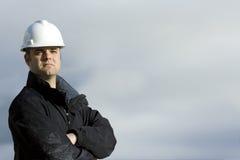Travailleur de la construction raboteux Photo stock