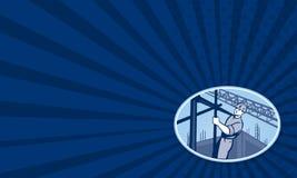 Travailleur de la construction Scaffolding Retro Image libre de droits