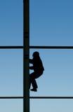 Travailleur de la construction sur des tailles Photo libre de droits