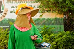 Travailleur de la construction thaï Photographie stock libre de droits