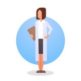 Travailleur de médecine de médecin Icon Clinics Hospital de femme illustration de vecteur