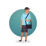 Travailleur de prestation de service de Boy Icon Postal de messager Image stock