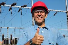 Travailleur de service électrique Image libre de droits