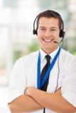 Travailleur de service client images stock