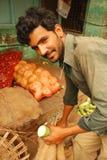 Travailleur du marché dans l'Inde Photographie stock libre de droits