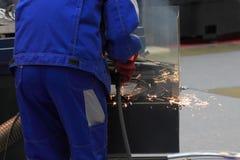 Travailleur en métal images stock