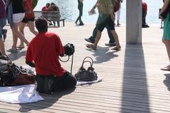 travailleur illégal sur Barcelone image libre de droits