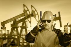 Travailleur industriel Pétrole et gaz Photo libre de droits