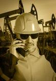 Travailleur industriel Pétrole et gaz Photographie stock