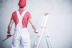Travailleur se préparant au raccordement image libre de droits