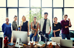 Travailleur Team Business Corporate Coworkers Concept photo stock