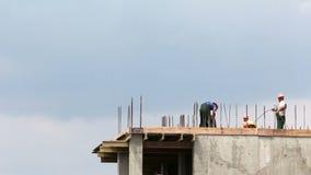 Travailleurs au laps de temps de construction HD clips vidéos