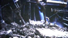 travailleurs concrets 1954 de barrage (de film de 8mm) clips vidéos