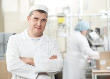 Travailleurs d'industrie de pharmacie Photo stock