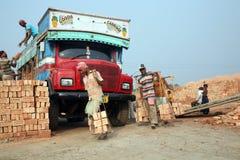 Travailleurs de champ de brique Image libre de droits