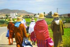 Travailleurs de champ de femmes, Maroc Image stock