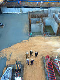 Travailleurs de chantier de construction Image stock
