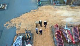 Travailleurs de chantier de construction Images libres de droits