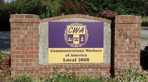 Travailleurs de communications de l'Amérique, Nashville TN photos stock
