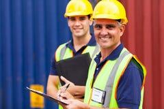 Travailleurs de compagnie maritime Image stock