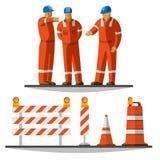 Travailleurs de construction de routes Images stock