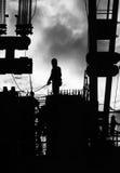 Travailleurs de la construction à l'extérieur Photographie stock libre de droits