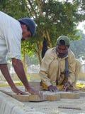 Travailleurs de la construction au Pakistan Images libres de droits